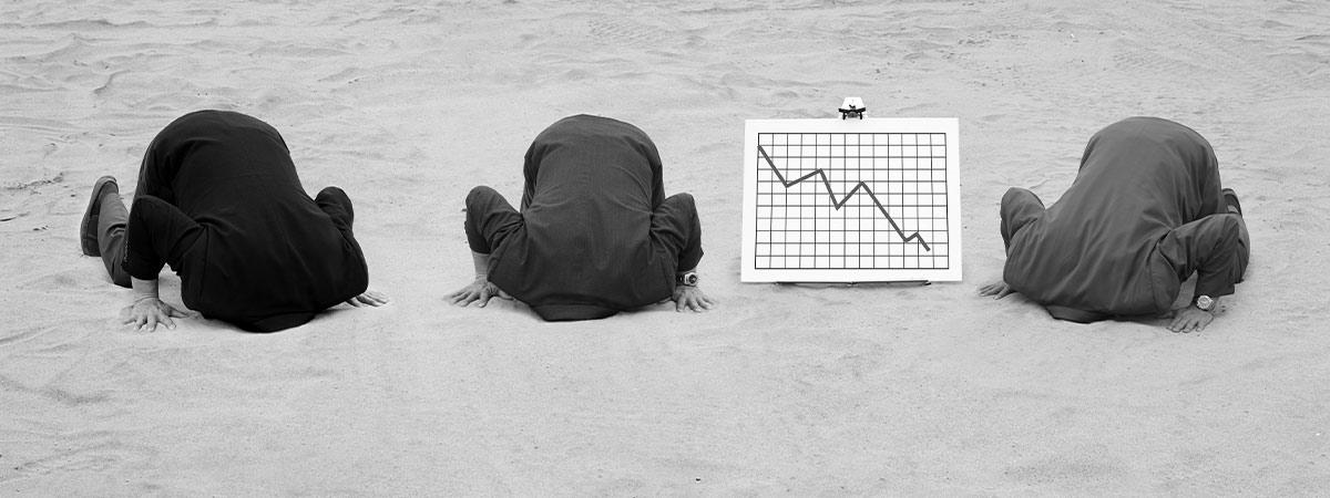 Börsenmakler, die SOX-Compliance-Anforderungen nicht erfüllt haben, stecken den Kopf in den Sand.