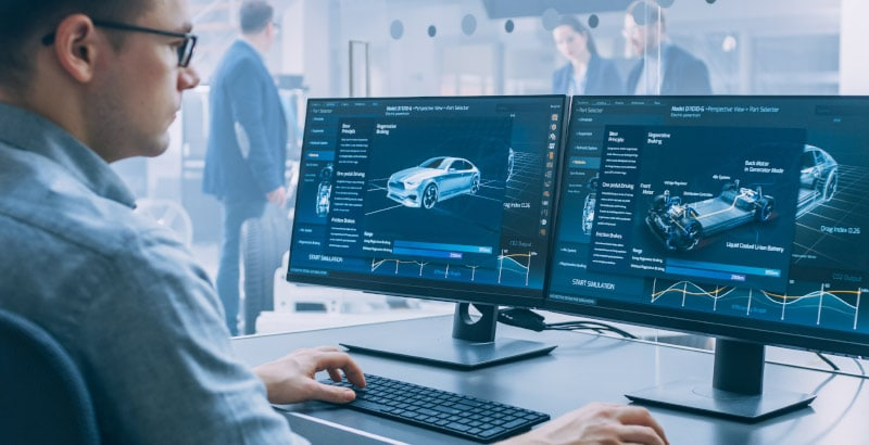 Auto-Engineer uses proprietary software to design patented new car part.